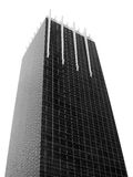 Square building in capital city. (Black and white scene Stock Photo