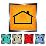 Square burst house buttons Royalty Free Stock Photo