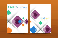 Square business abstract background, corporate print template Royalty Free Stock Photos
