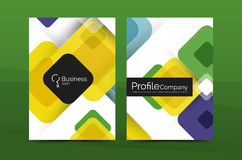 Square business abstract background, corporate print template. Vector Royalty Free Stock Image
