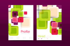 Square business abstract background, corporate print template Royalty Free Stock Photo