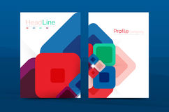 Square business abstract background, corporate print template Stock Image