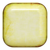 Square button. Grunge and shiny empty button Royalty Free Stock Photography
