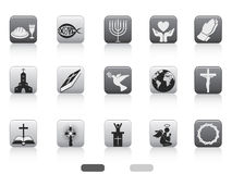 Square button of christian icon Royalty Free Stock Photography