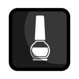 Square button with enamel nail beauty Royalty Free Stock Photo
