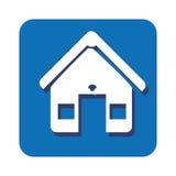 Square button facade house icon design Stock Photography