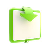 Square button with glossy arrow Stock Image