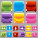 Square Button Set Royalty Free Stock Photography
