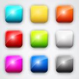Square button Stock Image