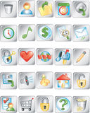 Square buttons 2 Royalty Free Stock Images