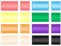 Square buttons. Vector illustration of square buttons stock illustration