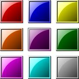 Square buttons stock illustration