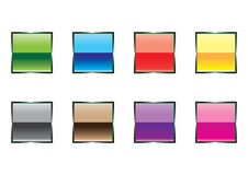 Square buttons Stock Image