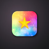 Square Buttons with Abstract Colors and a Star Royalty Free Stock Image