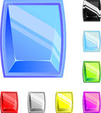 Square buttons of different color. There is a vector royalty free illustration