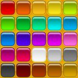 Square buttons, seamless Royalty Free Stock Images