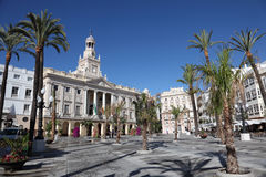 Square in Cadiz, Spain Stock Image