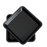 Square cake aka baking tins isolated over white Royalty Free Stock Photo