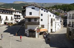 Square in Candelario Royalty Free Stock Photography