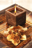 Square candle Royalty Free Stock Image
