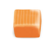 Square candy caramel with clipping path Royalty Free Stock Photography