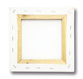 Square canvas on a stretcher. On white Stock Images