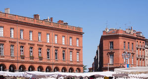 Square of the Capitole in Toulouse Royalty Free Stock Photo