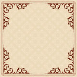 Square vector card with vintage ornament Royalty Free Stock Photo