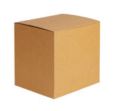 Square cardboard box Stock Images