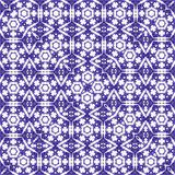 Square carpet pattern in blue and violet royalty free illustration