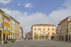 Square in Carpi Royalty Free Stock Photography