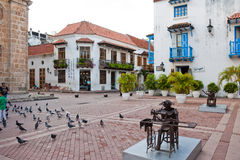 Square in Cartagena, Colombia Royalty Free Stock Photography