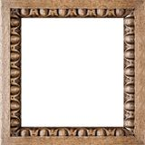 Square Carved Oak Picture Frame Stock Image