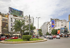 Square in Casablanca. Africa. Morocco.  Royalty Free Stock Photography