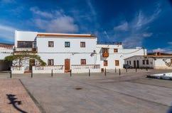 Square In Casillas Del Angel, Fuerteventura, Spain. Square Next To The Church Of Santa Ana - Casillas Del Angel, Fuerteventura, Canary Islands, Spain royalty free stock photos