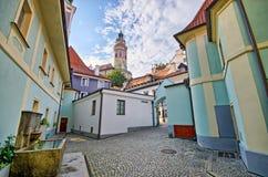 Square on the castle in Cesky Krumlov, Czech Republic Stock Photography