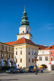 Square with castle in Kromeriz, Czech Republic. Stock Photo