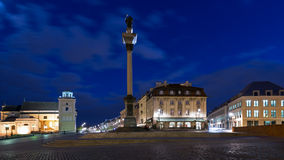 Square Castle and Sigismund's Column Royalty Free Stock Photos