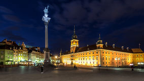 Square Castle and Sigismund's Column Stock Photography