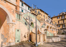 The square of Castrocaro Terme, Italy Stock Photo