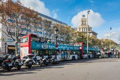 Square of Catalonia in Barcelona, Spain Royalty Free Stock Photography