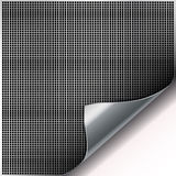 Square cell metal background with curved corner. Stock Images