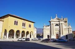 Square of Ceneda. VITTORIO VENETO,IT - JANUARY 07, 2017 - Square `Giovanni Paolo I` in the historic district of Ceneda. Vittorio Veneto was founded in 1866 by royalty free stock image