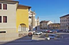 Square of Ceneda. VITTORIO VENETO,IT - JANUARY 07, 2017 - Square `Giovanni Paolo I` in the historic district of Ceneda. Vittorio Veneto was founded in 1866 by royalty free stock photos
