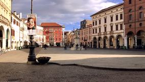 Square in the center of an Italian city, Rovigo
