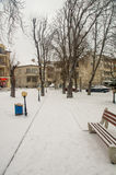 Square in the center of Pomorie, January - Bulgaria Royalty Free Stock Photography