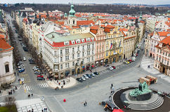 Square in the center of Prague City Stock Images