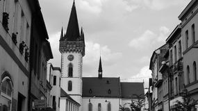 Square. In central bohemia - Dvur Kralove Royalty Free Stock Photo