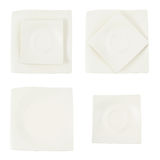 Square ceramic plate isolated Stock Photo