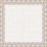 Square certificate frame Stock Photo